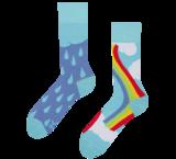 regenboog regen sokken