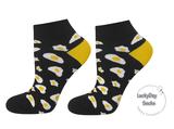 Spiegelei sneaker sokken