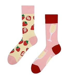 champagne aardbei sokken