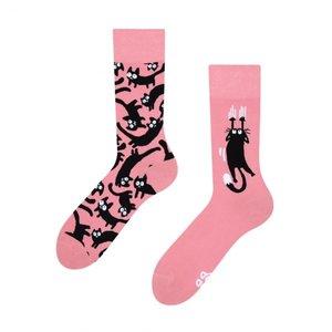Pink cats sokken