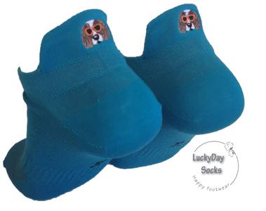 Sneaker hond bruin (blauw)