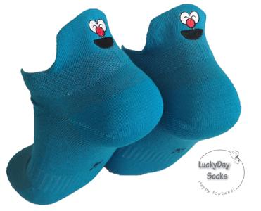 Sneaker poppetje knijpoogjes (blauw)