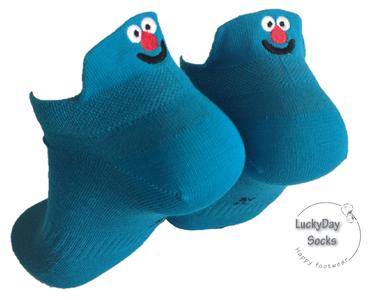 Sneaker poppetje neus (blauw)