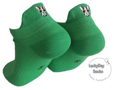 Sneaker hond grijs (groen)