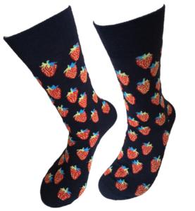 Aardbeien sokken