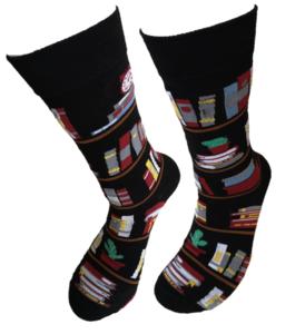 Boekenkast zwart sokken