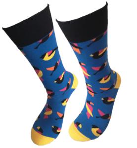 bleu birds blauwe vogels sokken