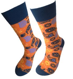 Paisley orange sokken