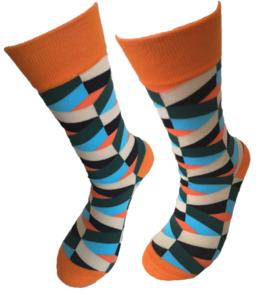 Retro orange sokken