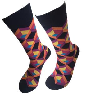 Retro bleu purple sokken