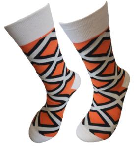 Retro beige sokken