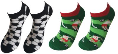 Voetbal sneaker sokken set