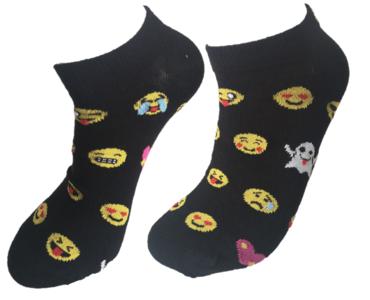 Smiley's sneaker sokken