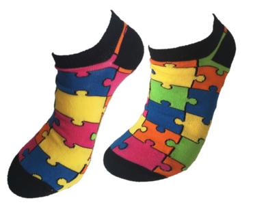 Puzzel sneaker sokken
