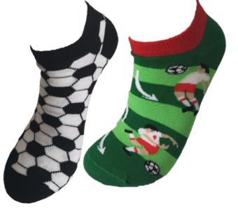 Voetbal mismatch sneaker sokken